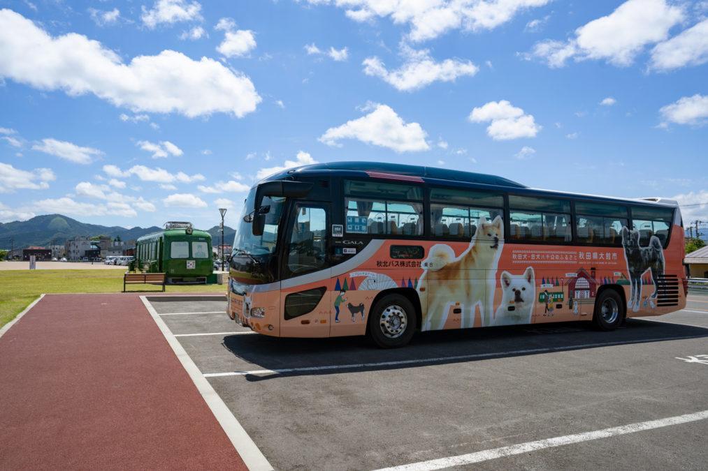 秋田県大館市 ラッピングバス